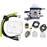 Senrob C1U-K54A Carburetor Repower Kit with Air Filter & Gasket Fuel for Echo Mantis 7222 7222E 7222M 7225 7230 7240 7920 7924 Tiller/Cultivator
