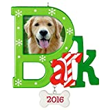 Hallmark Keepsake 2016 'Dog  Bark' Dated Picture Frame Holiday Ornament