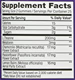 Image of OLLY Restful Sleep Gummy Supplement, with MELATONIN & L-Theanine, Chamomile; supports a healthy sleep cycle*; Blackberry Zen; 50 count, 25 day supply (packaging may vary)