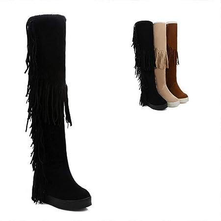 para Altas botas mujer botas ZHRUI la para 41) tamaño