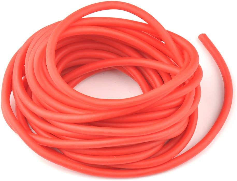 Without brand 1pc 5mm5//10m Outdoor Natural Latex Rubber Tube Stretch Elastic Slingshot Replacement Band Catapults Sling Rubber Color : 10m Red