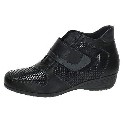 MADE IN SPAIN C-H16 Botines CÓMODOS Piel Mujer Botines Negro 38: Amazon.es: Zapatos y complementos