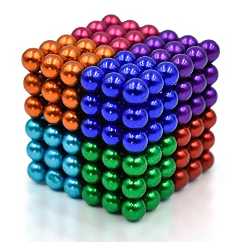 CPSYUB Upgraded 5MM 216 Pieces Magnets Sculpture Building Blocks Toys for Sculpture Stress Relief Magnet Intelligence Development&Office Toy for Adult (8 Colors)
