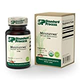 Standard Process - Multizyme - Digestion and Pancreatic Function Support Supplement, Provides Digestive Enzymes and Pancreatic Enzymes, Gluten Free - 150 Capsules