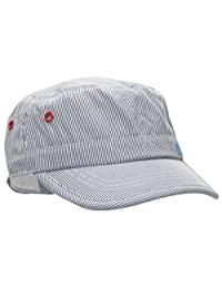 TotMore Baby Toddler Blue Striped Flat Top Hat