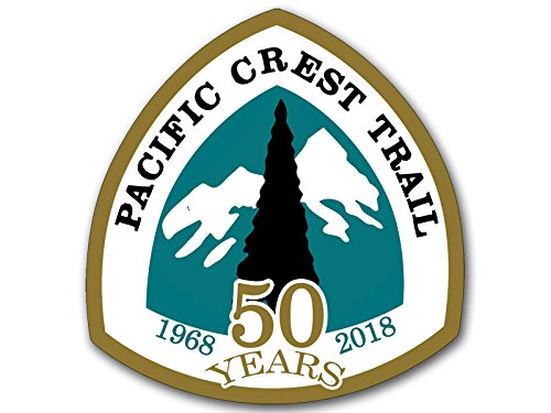 American Vinyl Pacific Crest Trail 50 Years 1968 to 2018 Sticker (Anniversary pct National Sign Logo) (Crest Sticker)
