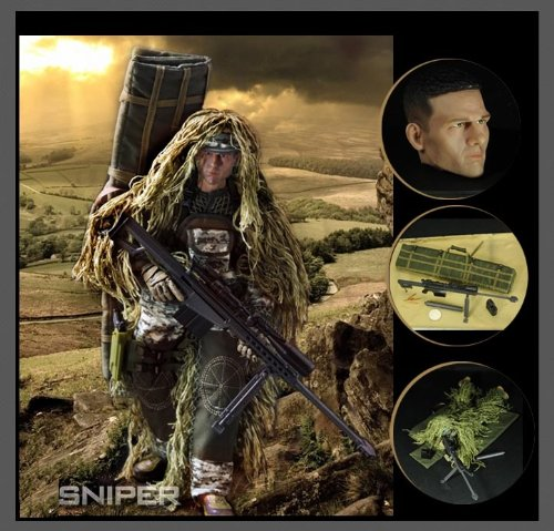 Highly Dettail 12'' Special Forces Action Figure-Digital Desert Camouflage