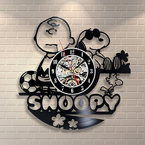 Snoopy Vintage Office Decor Vinyl Record Wall Clock