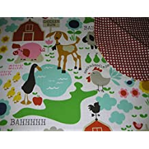Down on the Farm! Handmade Children's Cotton/Flannel Blanket