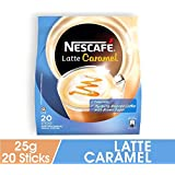 Nescafe 3 in 1 CARAMEL Coffee Latte - Instant Coffee Packets - Single Serve Flavored Coffee Mix (15 Sticks)