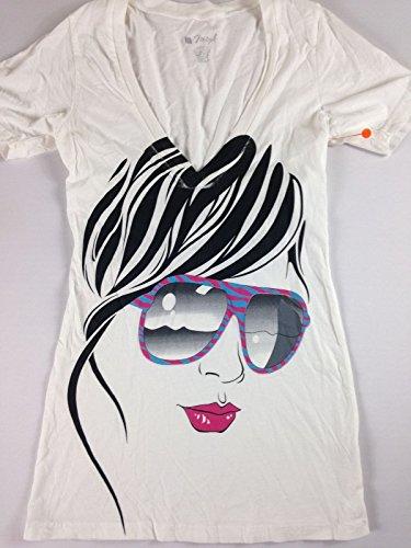 Moteph Shirt Deep V-Neck Womens Mermaid Skull Peace Feathers Lips Sexy Rose Afro (Woman Sunglasses, - Sunglasses Lopez