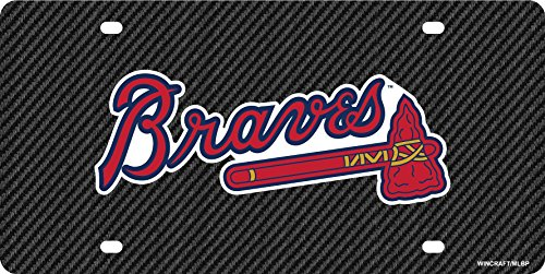 - Stockdale Atlanta Braves Carbon Fiber Premium Laser Cut Tag Acrylic License Plate Baseball