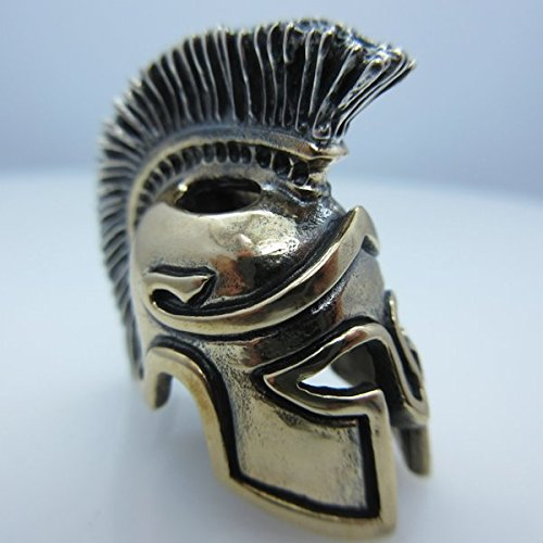 Spartan Centurion Paracord / Lanyard Bead in .925 Sterling Silver & Bronze by GD Skulls by Jig Pro Shop