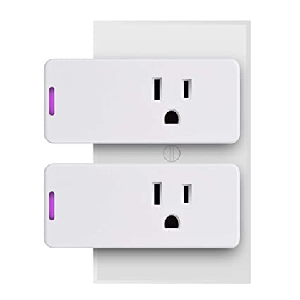 Smart Plug, Surge Protector, POWRUI Wifi Outlet Compatible with Alexa,  Google Home & IFTTT, No Hub Required, Remote Control your home appliances  from