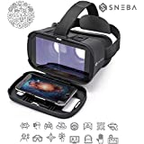 """VR Glasses, Virtual Reality Headset, 3D IMAX Movie/Game Viewer Compatible iPhone XR Xs X 8 7 6 S Plus Samsung Galaxy S9 S8 S7 S6 Edge + etc 4.0-6.33"""" Cellphone"""