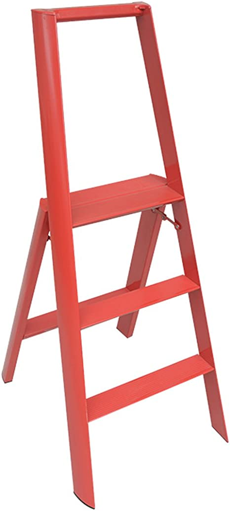 WZN Escalera Simples de la casa de Moda Fold Ascend Tres Escalera Plegable (Color : Red, Size : Red): Amazon.es: Hogar