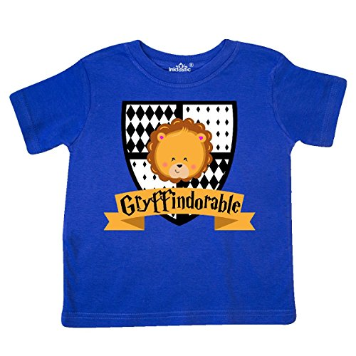 inktastic Gryffindorable Crest With Lion Head Toddler T-Shirt 4T Royal (Blue Lion Head)