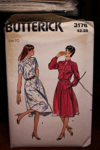 Vintage Butterick Uncut Pattern Dress - Vintage Butterick Pattern 3178 Sz 10 Misses' Dresses Uncut