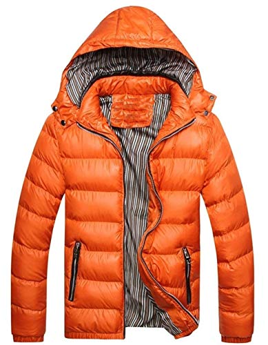 Warm Waterproof Men's Down Long Sizes Jacket Alternative Jacket Outwear Down Clothing Sleeve Coat Hood Orange Coat Quilted Winter Ultralight Comfortable Hooded 5dwwqrPEW