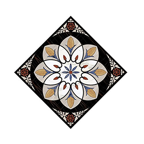 Ceramic Pattern Floor (H4S Pack of 10pcs 3.15 Inch by 3.15 Inch Peel and Stick Removable Waterproof PVC Decorative Tile Stickers Decals for Ceramic Floor and Wall Tiles, Pattern 8)