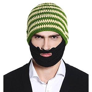 c9d614466f1 Unisex Ski Wacky Beard Knit Winter Hat Beanie - Cool Beanie Hats