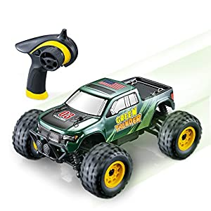 GPTOYS S608 All Terrain Remote Control Car - Splash Resistant, Fast 4 X 4 Off Road Electric RC Truck, Hobby Grade 1/24 Scale - Best Gift for Boys & Girls and Even Adults