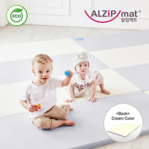[Alzip New Eco Mat] Folding, Non-Toxic, Reversible SG Playmat -Duo Gray Color (240x140x4cm) by Alzip