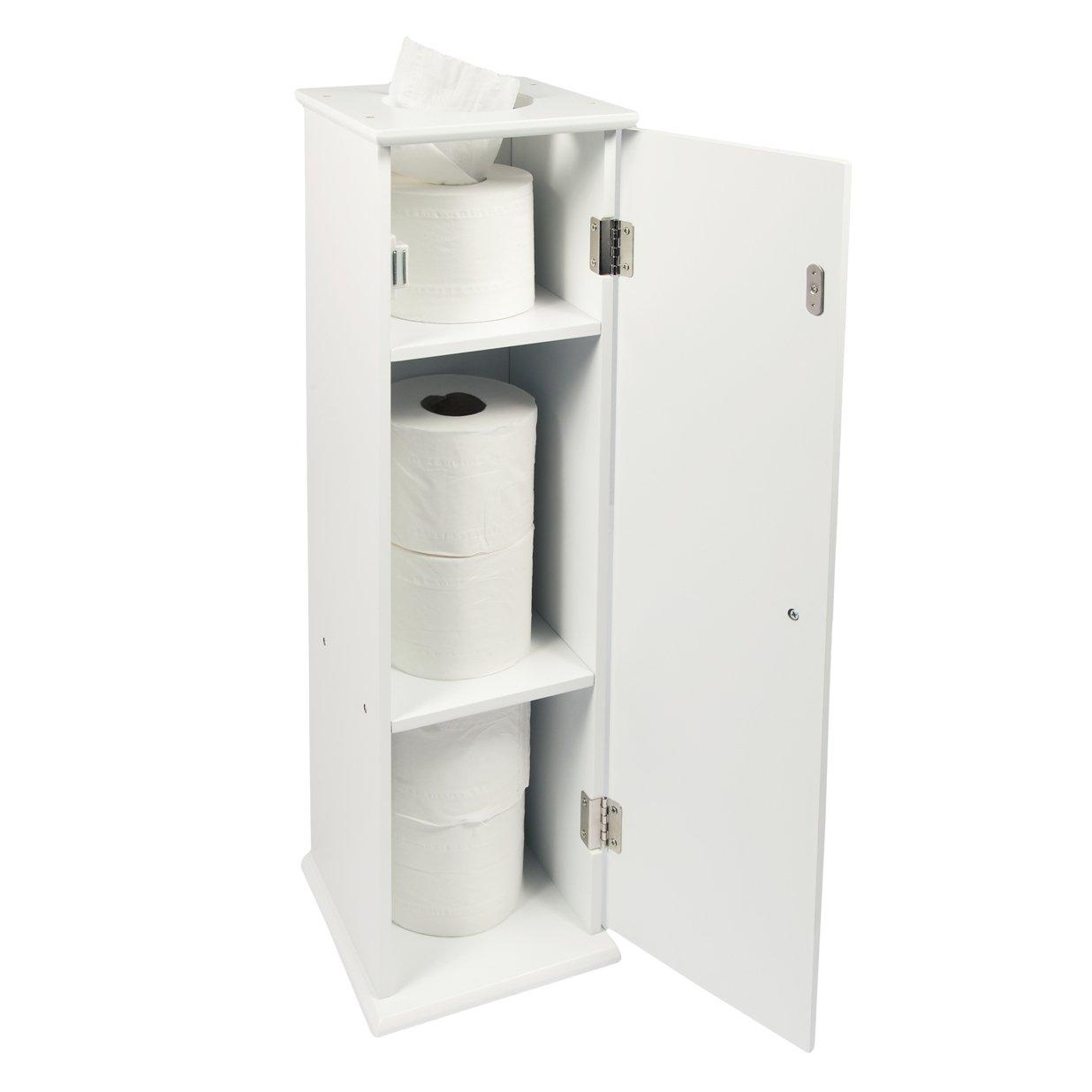 Toilettenpapier Aufbewahrung woodluv holz boden stand wc seidenpapier rolle halter badezimmer