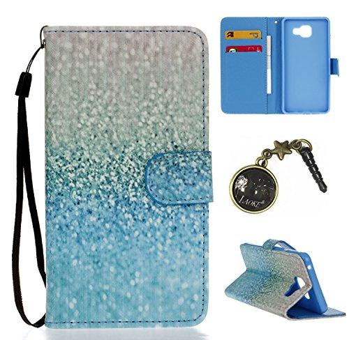 PU Silikon Schutzhülle Handyhülle Painted pc case cover hülle Handy-Fall-Haut Shell Abdeckungen für Smartphone Samsung Galaxy A5 (6) SM-A510F (2016) +Staubstecker (8XS)