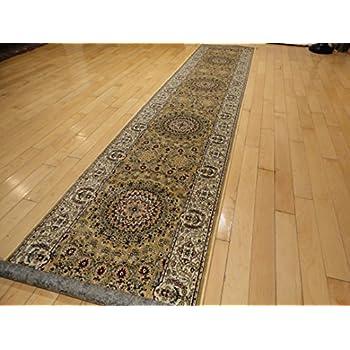 Amazon.com: Silk Persian 2x12 Hallway Runner Gold Long