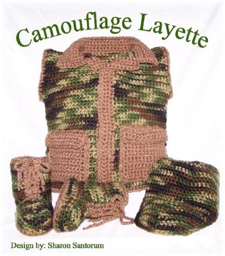 Baby Camouflage Layette Crochet Pattern