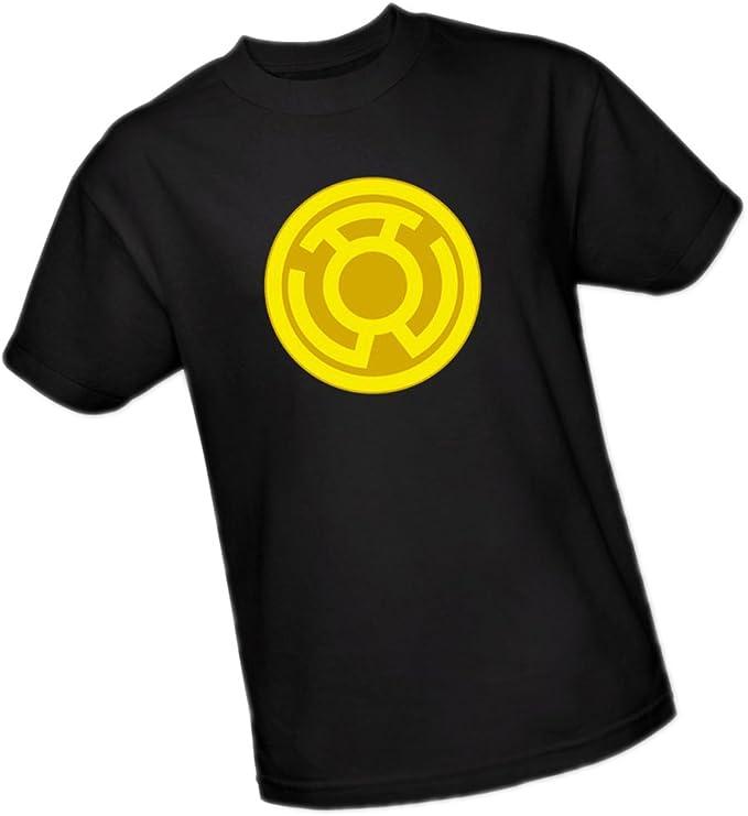 Green Lantern Corps Yellow Symbol Licensed Adult T Shirt