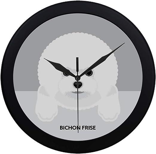 Bichon Frise Frameless sans Bordures Wall Clock Nice Pour Cadeaux Ou Décor F39