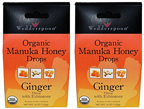 Wedderspoon Organic Manuka Honey Drops (Ginger Pack of 2) by Wedderspoon
