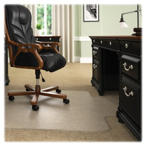 deflect-o CM17723 60 by 60-Inch Execumat Studded Beveled Chair Mat for High Pile Carpet, Clear by Deflect-O ()