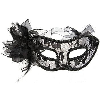 haut de gamme authentique capture design distinctif Masque Vénitien Venise Plume Fleur Dentelle Carnaval ...