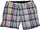 Men's Polo by Ralph Lauren Big and Tall Reversable Shorts Green Plaid/Navy Size 50B