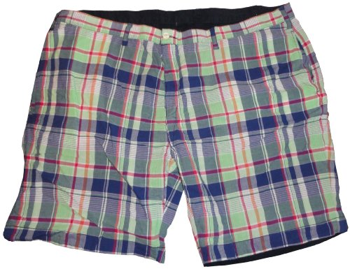 Men's Polo by Ralph Lauren Big and Tall Reversable Shorts Green Plaid/Navy Size 50B by RALPH LAUREN