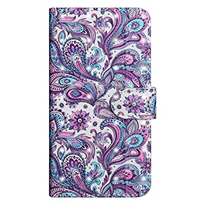 LG K8 2020 Case, UNEXTATI PU Leather Flip Folio Wallet Cover with Credit Card Holder and Magnetic Closure for LG K8 2020, Purple: Baby