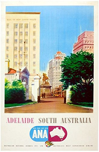 vps Vintage Adelaide Australia Tourism Poster A3 Print