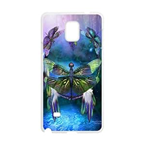 Fggcc Dragonfly Pattern Phone Case for Samsung Galaxy Note 4,Dragonfly Note4 Case (pattern 13)
