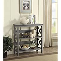 Convenience Concepts Oxford 3-Tier Bookcase, Gray