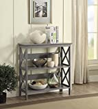 Convenience Concepts Oxford 3-Tier Bookcase, Gray Review