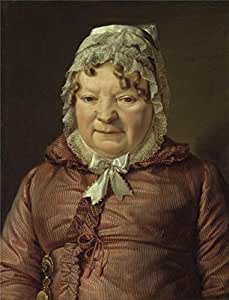 high quality polyster Canvas ,the Amazing Art Decorative Prints on Canvas of oil painting 'Ferdinand Georg Waldmuller-Portrait of the Mother of Captain von Stierl-Holzmeister,1819', 8x10 inch / 20x27 cm is best for Home Office gallery art and Home gallery art and Gifts