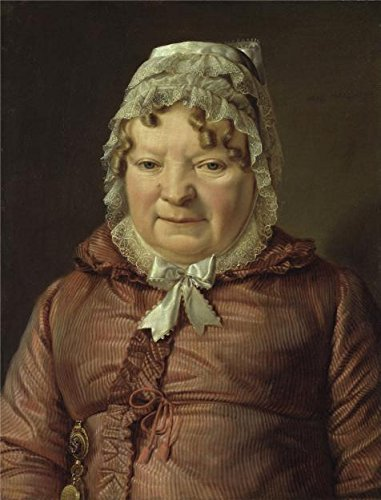 'Ferdinand Georg Waldmuller-Portrait Of The Mother Of Captain Von Stierl-Holzmeister,1819' Oil Painting, 16x21 Inch / 41x53 Cm ,printed On Perfect Effect Canvas ,this Best Price Art Decorative Prints On Canvas Is Perfectly Suitalbe For Basement Gallery Art And Home Artwork And Gifts