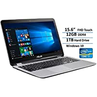 ASUS Transformer Book Flip Convertible 2-in-1 Laptop / Tablet 15.6 FHD Touchscreen Display, Intel Core i7-6500U up to 3.1GHz, 12GB DDR4, 1TB HDD, USB 3.1, Bluetooth, Webcam, Windows 10