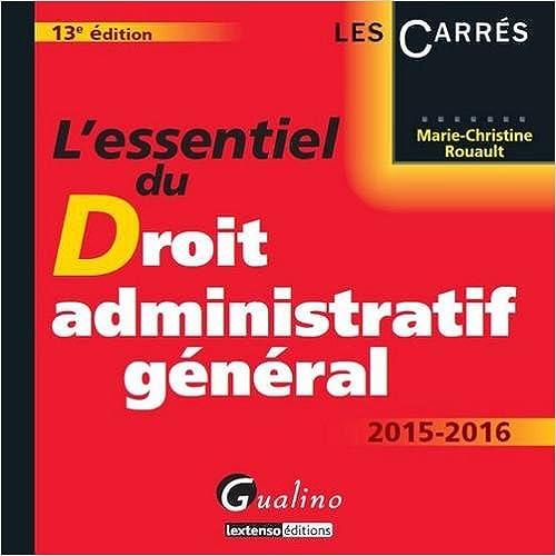 En ligne téléchargement L'essentiel du droit administratif général 2015-2016 pdf
