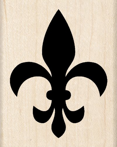 Inkadinkado Fleur De Lis Wood Stamp for Arts and Crafts, 2.5'' W x 2'' L