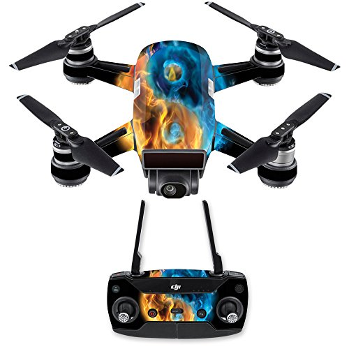 MightySkins Skin for DJI Spark Mini Drone Combo - Yin and Yang | Protective, Durable, and Unique Vinyl Decal wrap Cover | Easy to Apply, Remove, and Change Styles | Made in The USA