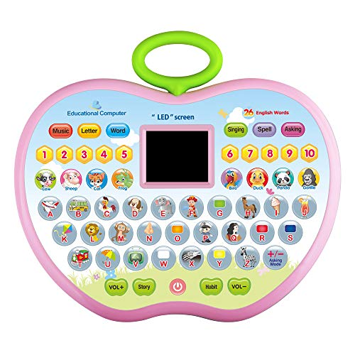 KIDTOY Toys for 3 Year Olds Girls, Learning Tablets Gift for 1-3 Year Old Boys Kids Educational Computer Toy for 12-24 Months Baby Girl Boy Children Birthday Gifts 2-5 Year Olds